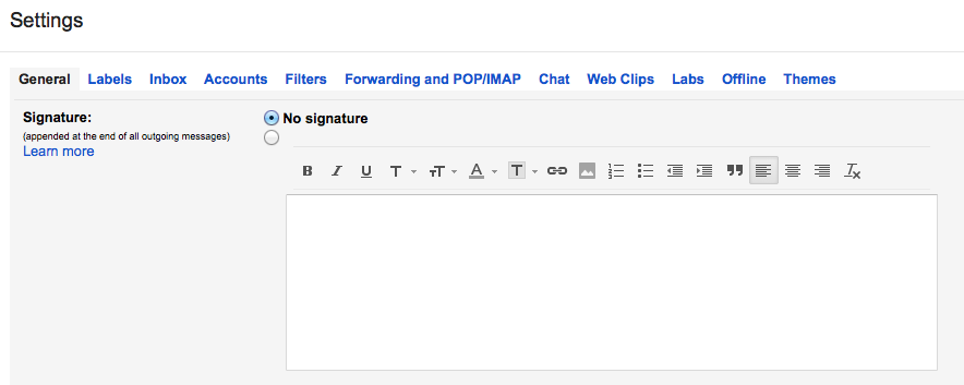How to Create a Gmail Signature.