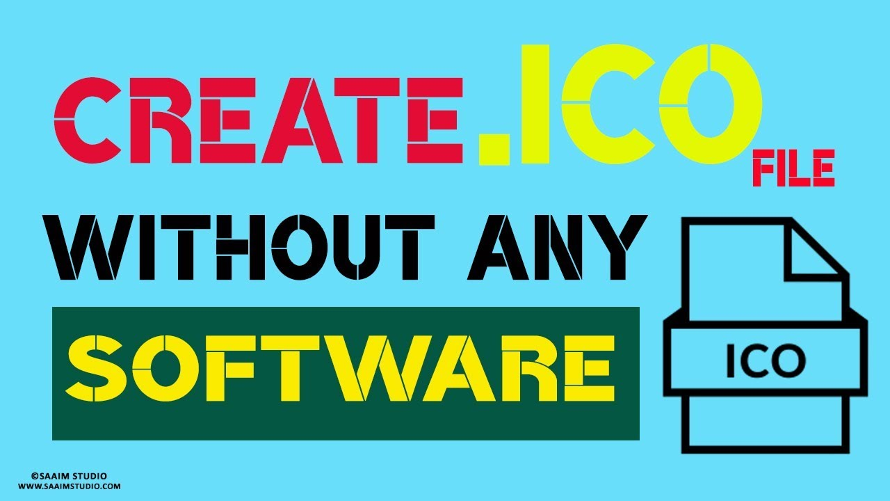 How to Convert PNG to .ICO File Format? Without Any Software? Create .ICO  File format online.
