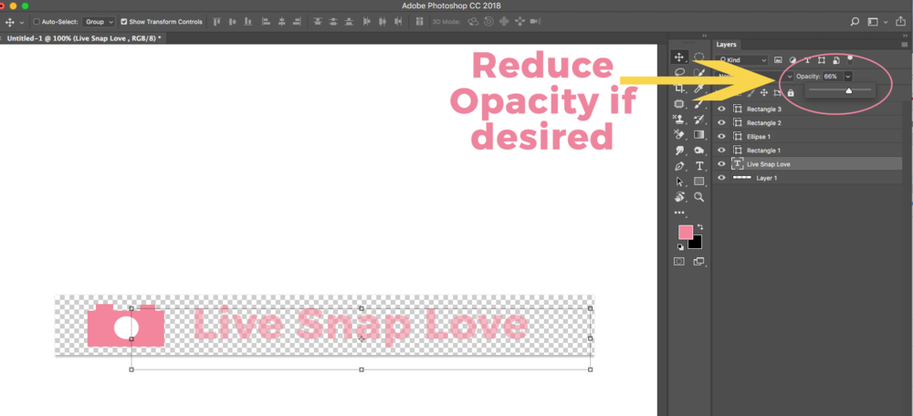 How to Make A Watermark In Photoshop in 5 Simple Steps — LIVE SNAP LOVE.
