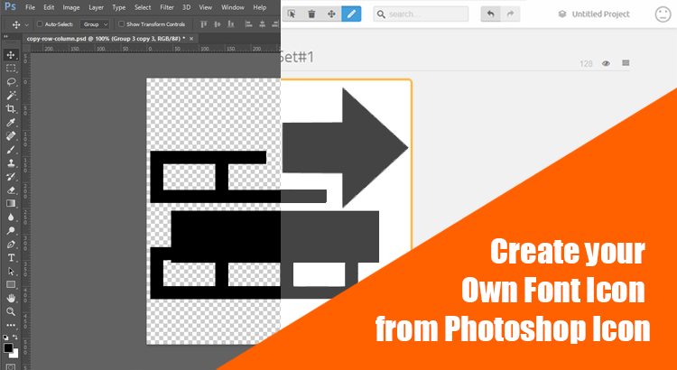 3 Steps to Create your Own Font Icon from Photoshop Icon.