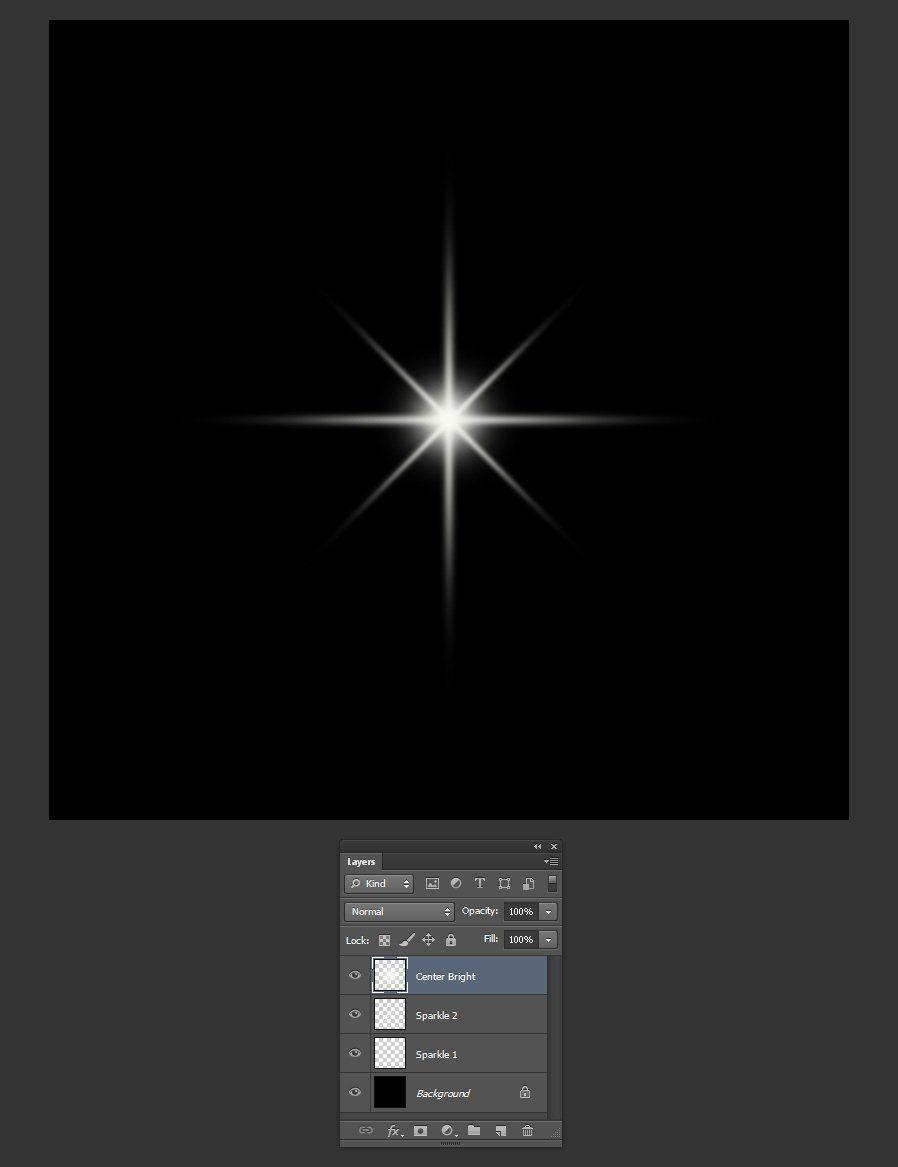 How to create a sparkle.
