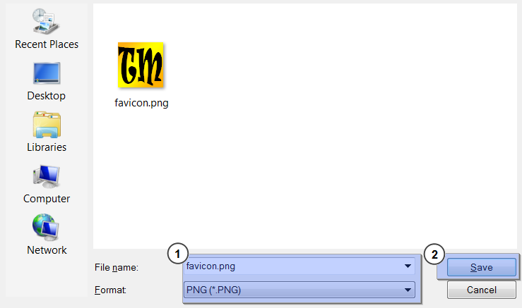 How to create .ico favicon with Photoshop.
