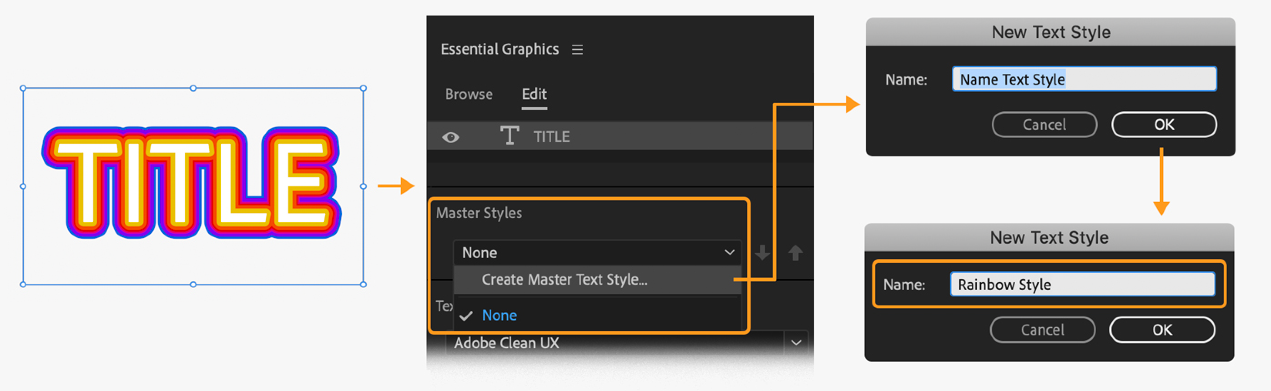 Create titles and motion graphics with the Graphics workspace in.
