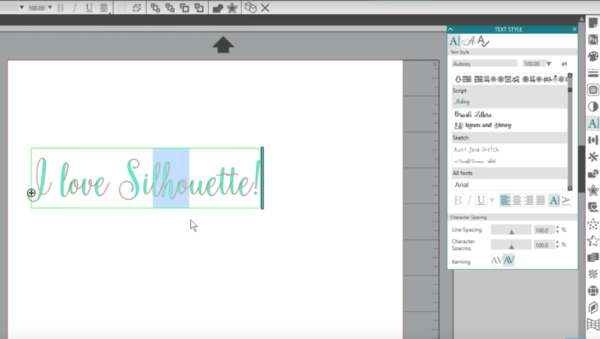 Creating Text in the Silhouette Studio® (Basic Edition and Higher).
