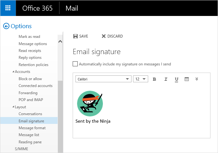 How to Add an Image to Your Email Signature in the Outlook.