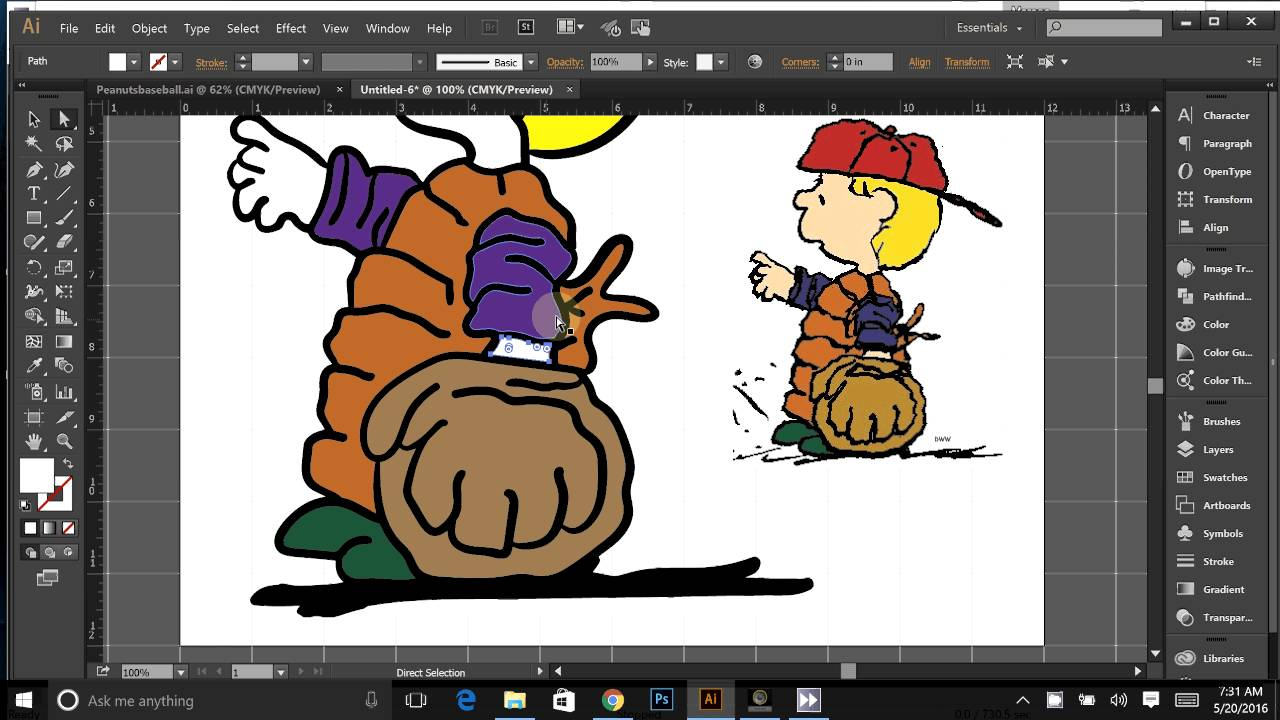 How to redraw a downloaded image using Illustrator to create a SVG.