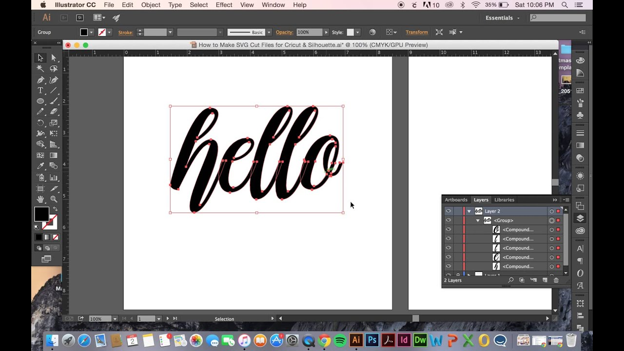 How to Make SVG Cut Files for Cricut & Silhouette.
