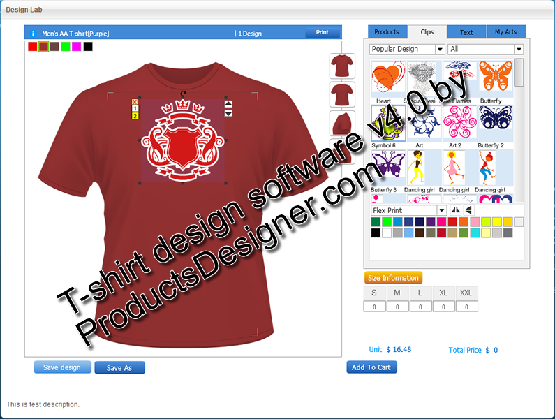 Flash TShirt Design Software 4.0 Download.