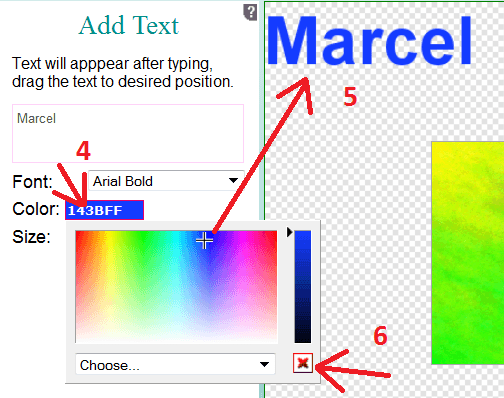Add text to animated GIF.