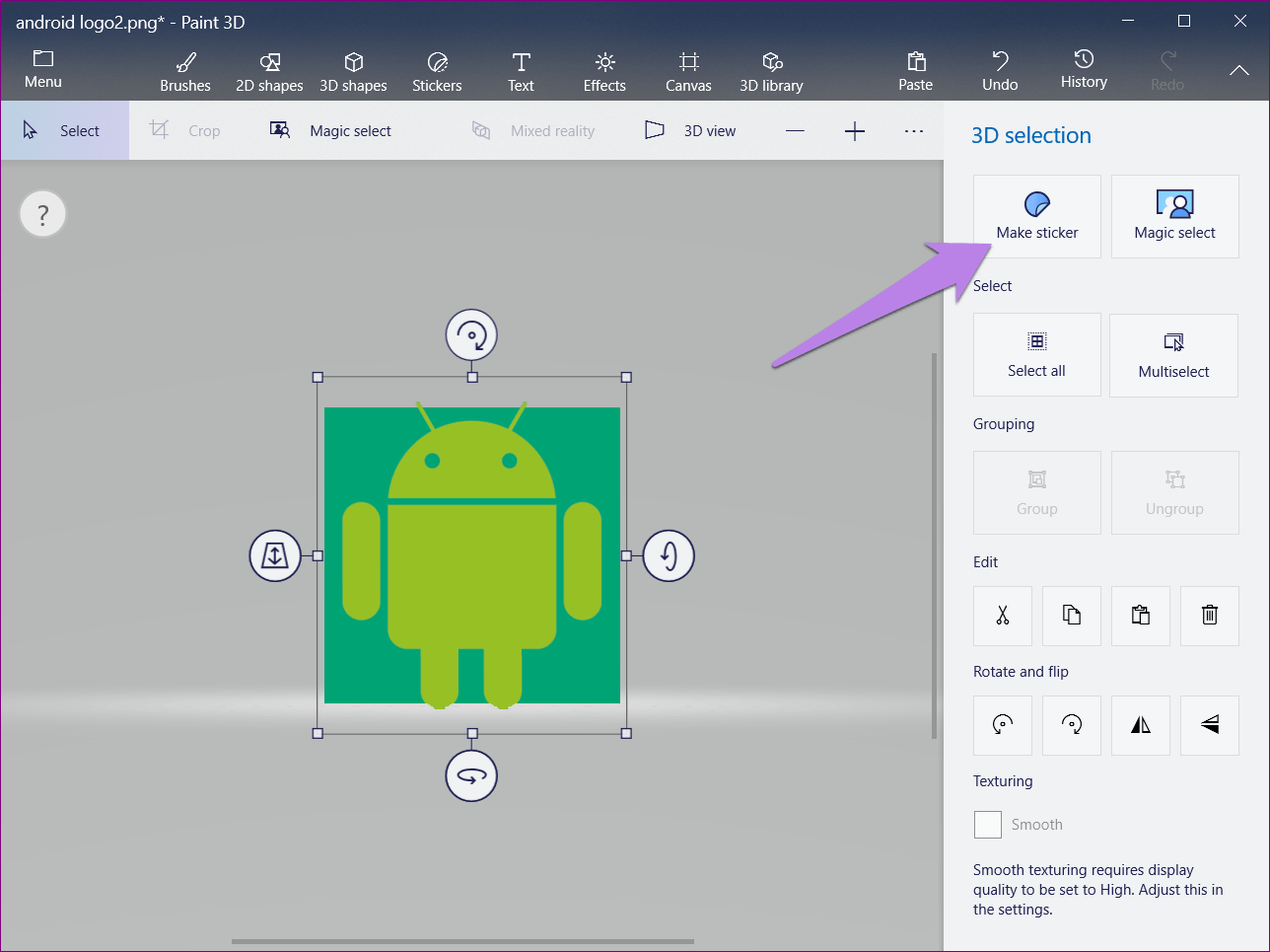 How to Change Background Color in Paint 3D.