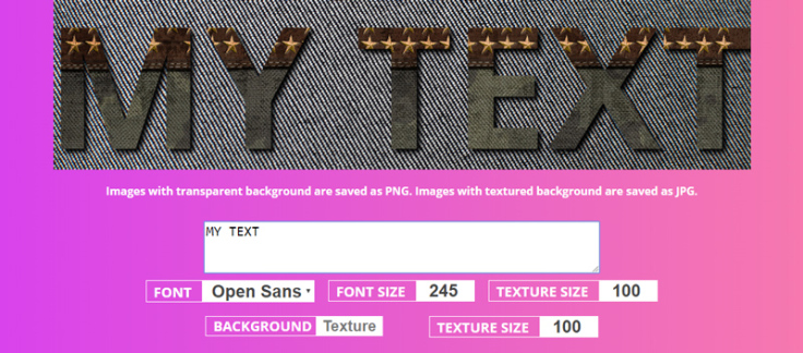 Create Online Text Effects with Textturizer.
