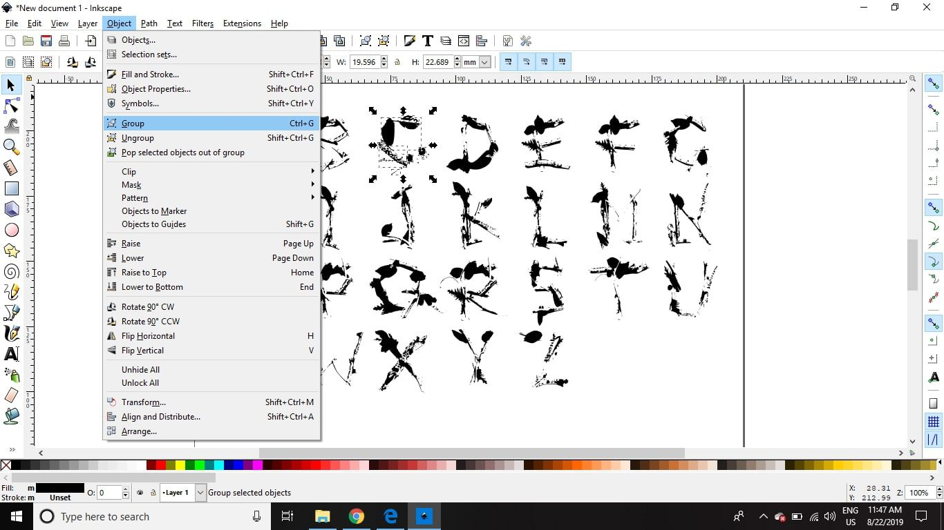 Create Your Own Fonts Using Inkscape and Fontastic.me.