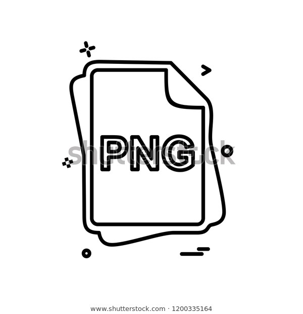 Png File Type Icon Design Vector Stock Vector (Royalty Free) 1200335164.