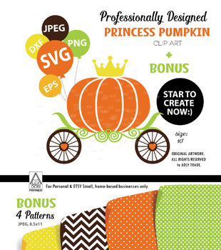 Royal Pumpkin SVG, Clip Art, vector file. Create your own style, product.