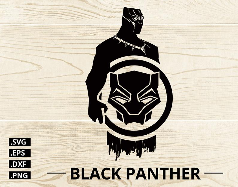 Black Panther Superhero SVG, Vector Cut File Cricut Design, Silhouette,  Vector Files Svg, Eps, Dxf and Png.
