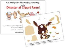 Clipart Farm! Creating vector graphics (KS2/KS3 Digital Literacy).