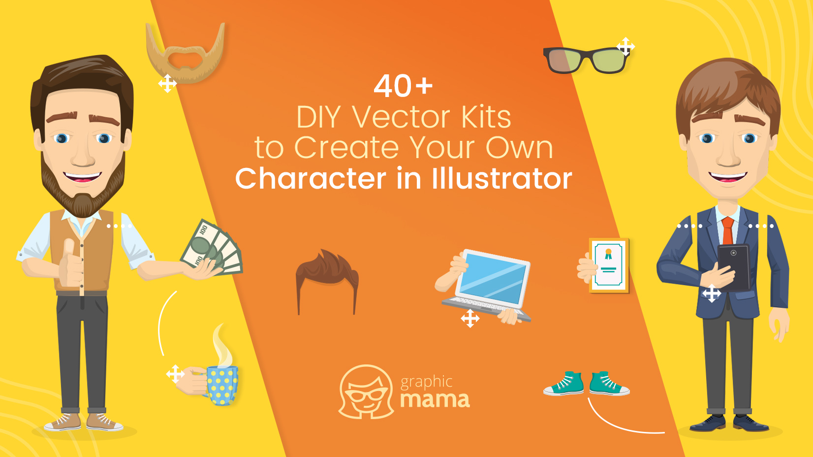 40+ DIY Vector Kits to Create Your Own Character in Adobe.
