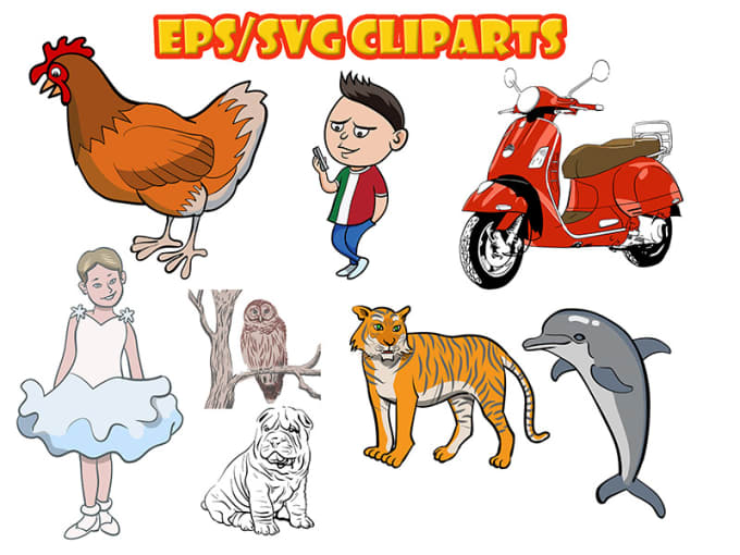 create vector clipart in png, eps or svg format.