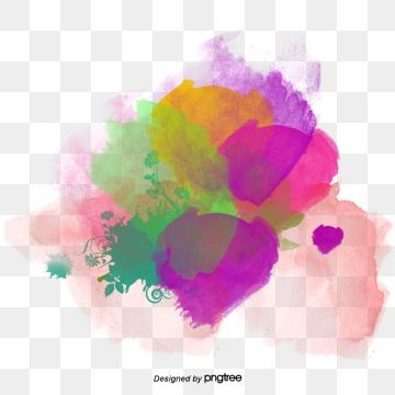 Color Ink Jet Watermark, Color, Inked, Watermark PNG.