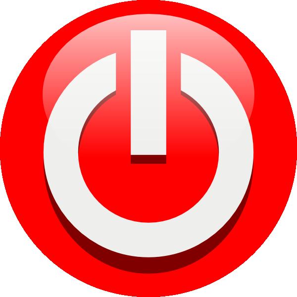 Power off icon clip art.