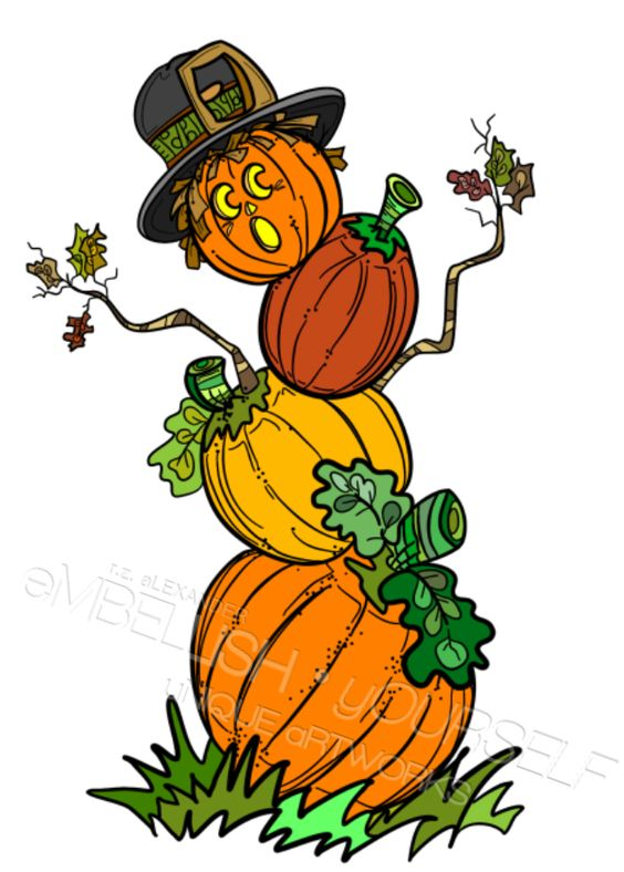 Pumpkin Man clipart created by rz alexander, Embellish Yourself.