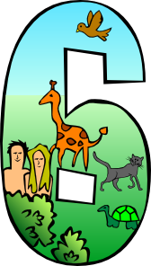 Creation Day 6 Number clip art.