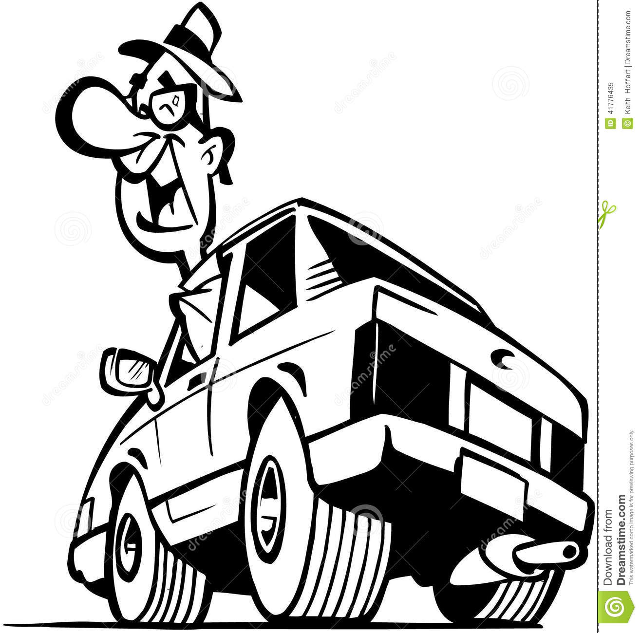 Man Driving Car Cartoon Vector Clipart Stock Vector.
