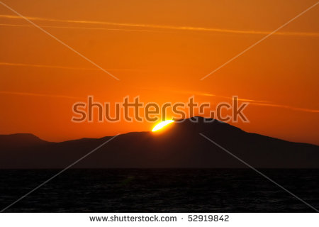 Light From Behind The Mountains Stock Photos, Royalty.