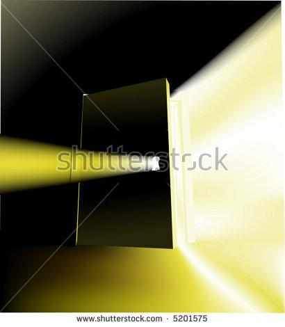 Light Behind Door Stock Photos, Royalty.