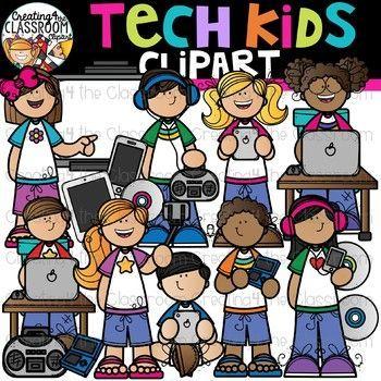 Tech Kids Clipart {Technology Kids Clipart}.