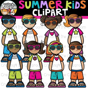 Summer Kids Clipart {Creating4 the Classroom}.