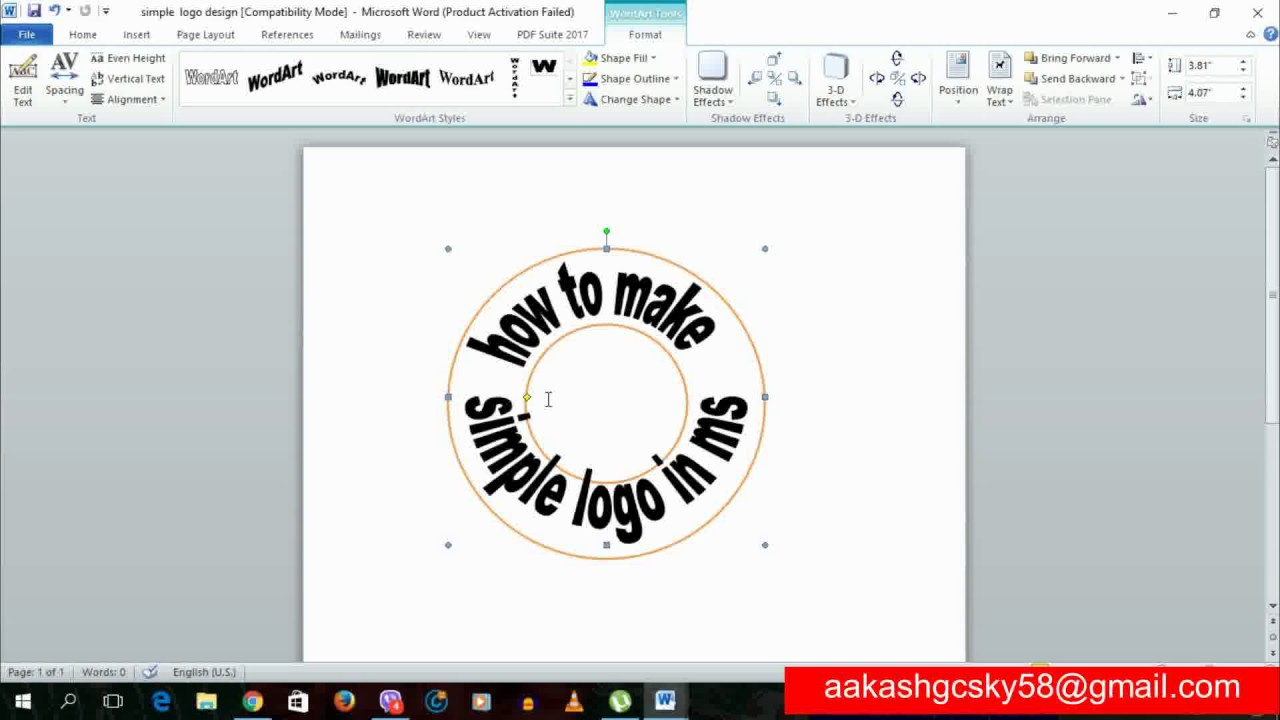 how to create logo in microsoft word 2010.