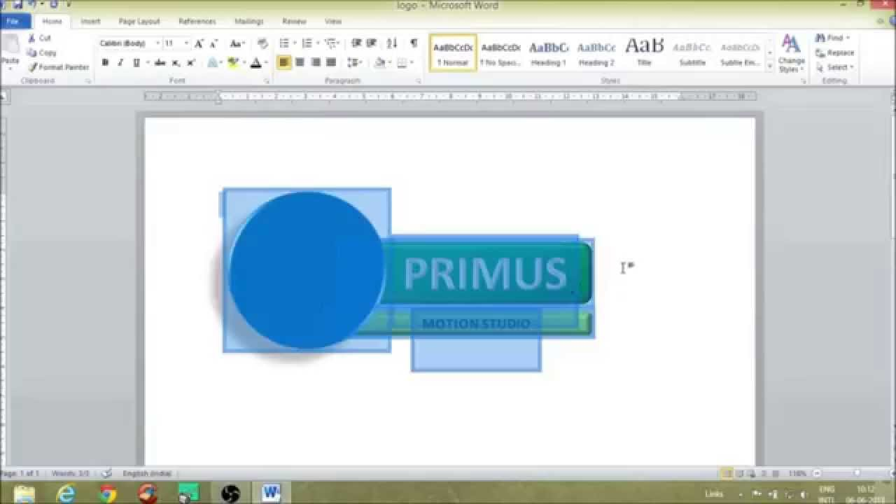 CREATE A AWESOME LOGO USING MS WORD.