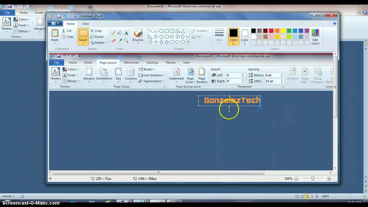 How to make a logo in Microsoft word 2010.