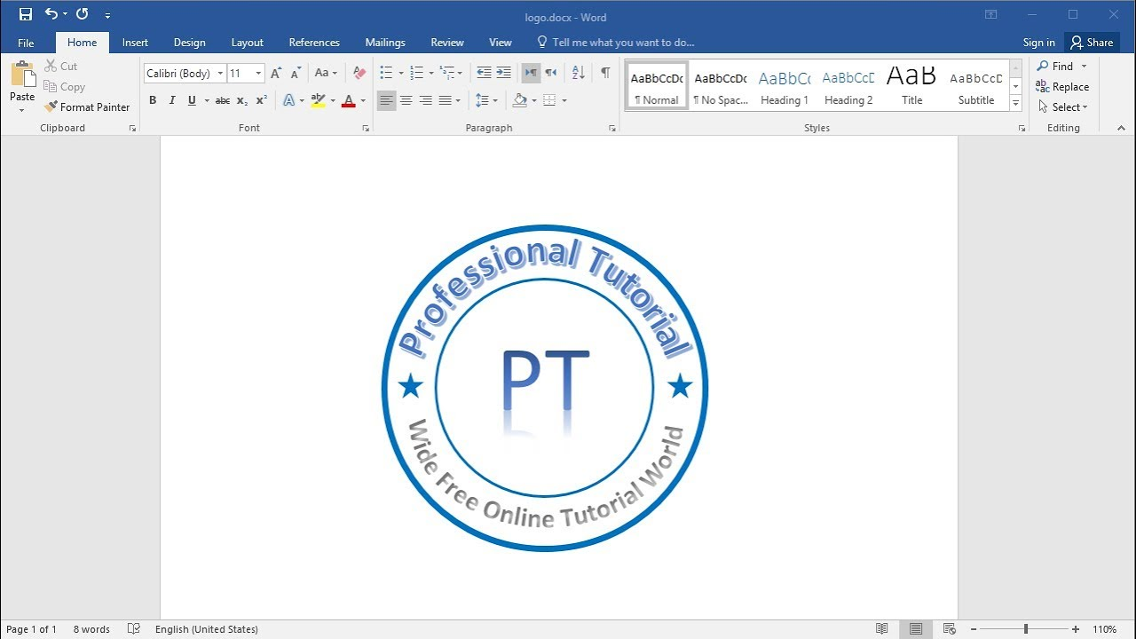 Create and Make Logo in MS Word.