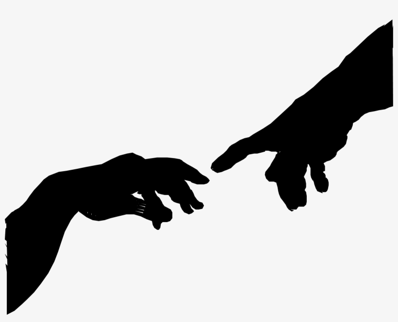 The Creation Of Adam Hand Silhouette By Eryc Tri Juni.