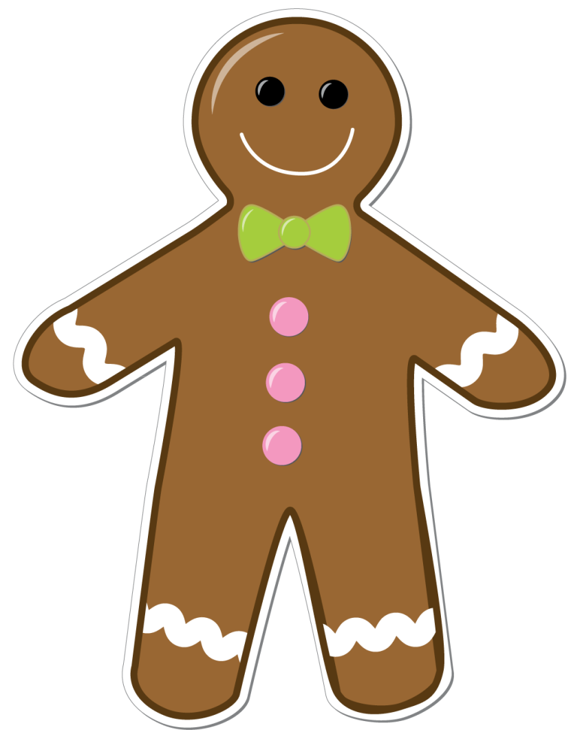 Gingerbread man clipart png.