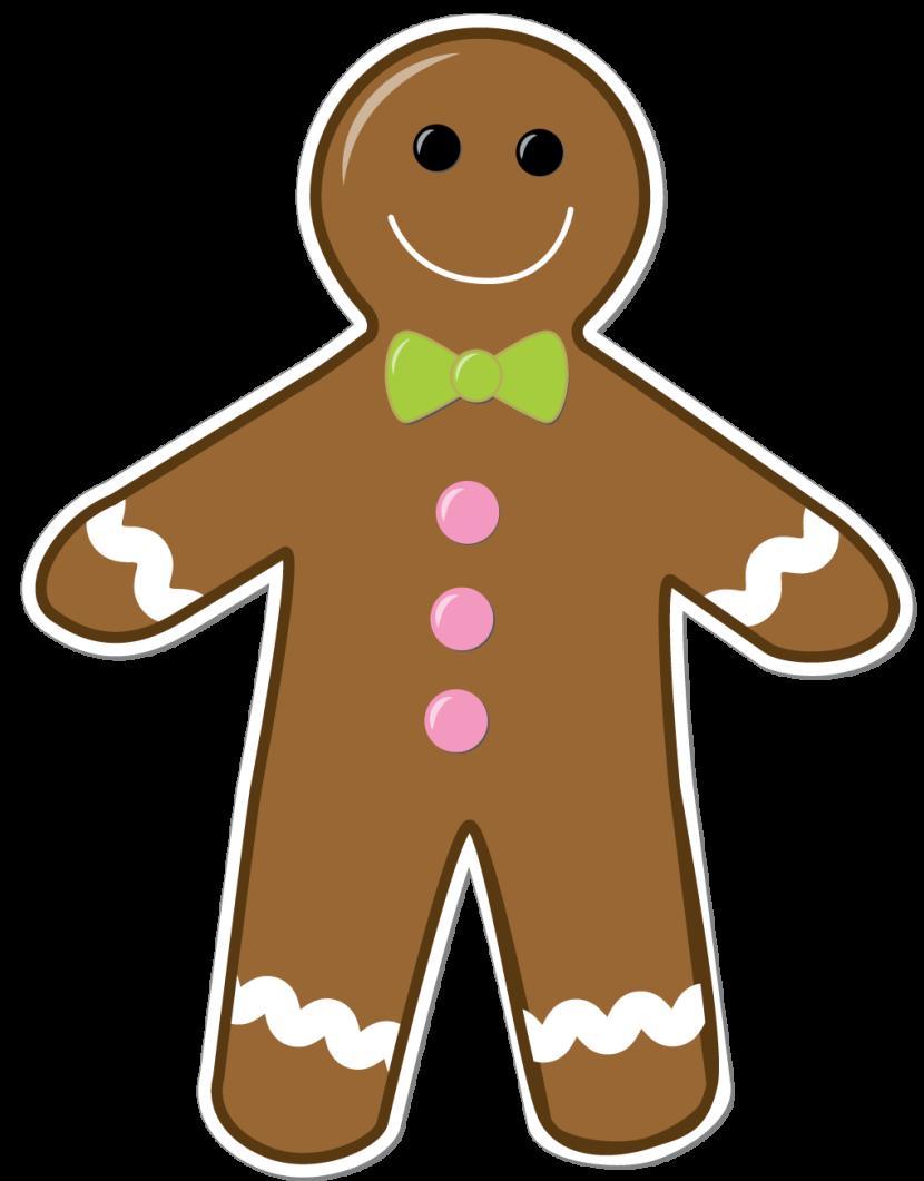 Gingerbread man clipart png.