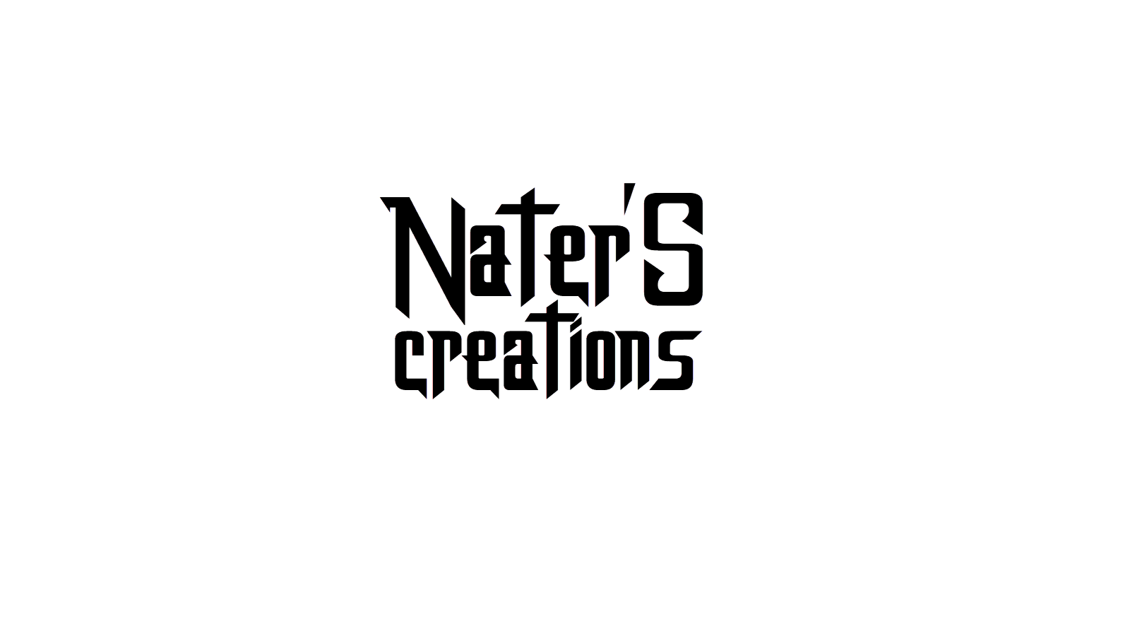 Nater'S Creations Logo Text PNG.
