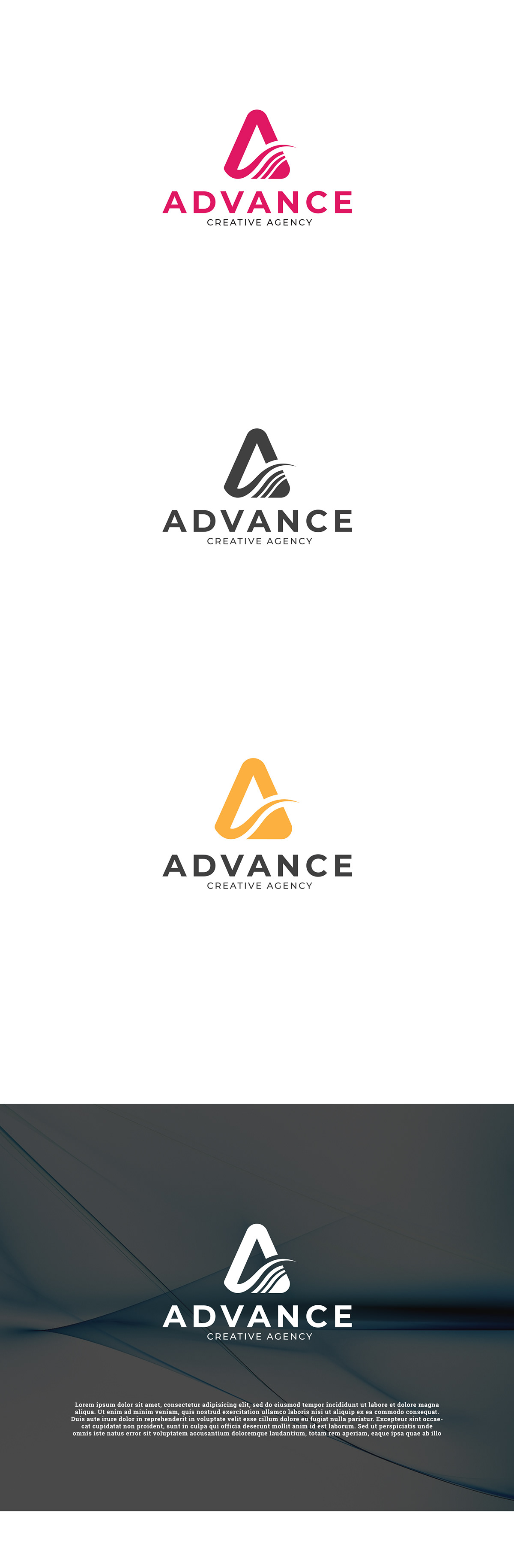 Advance creative agency logo on Student Show.