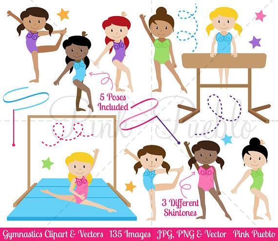Gymnastics Clipart, Gymnastics Clip Art, Gymnast Clipart, Gymnast.