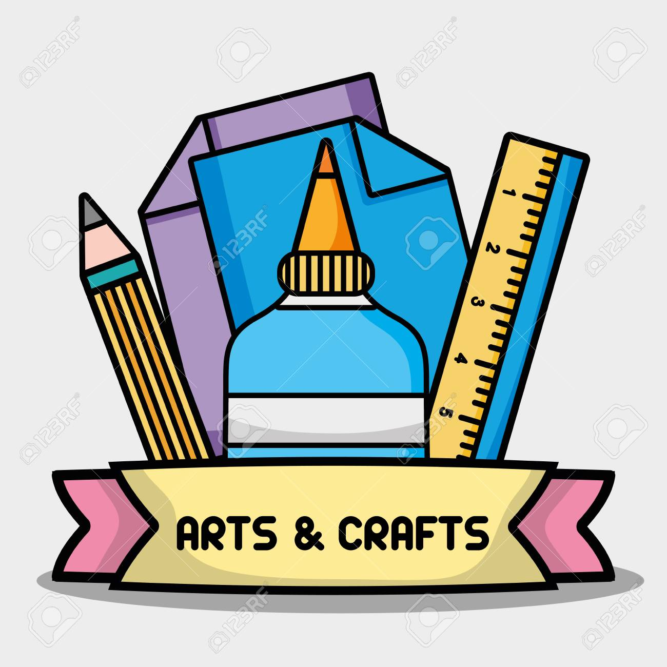 creative object to art and craft design.