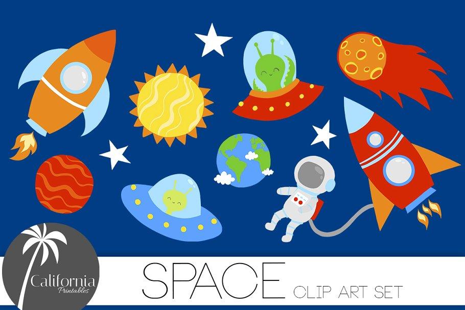 Space Clip Art Set.