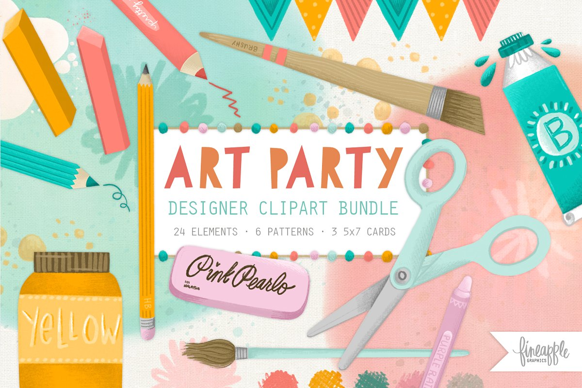 Arts and Crafts Clipart ~ Graphic Objects ~ Creative Market.