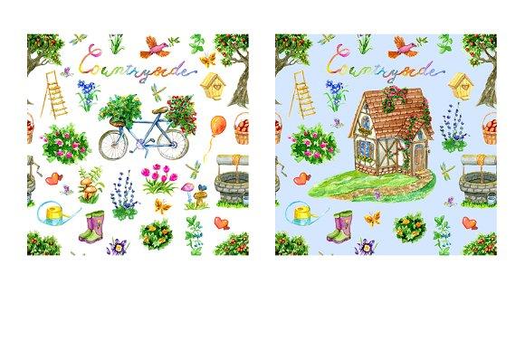 Cute house clip art set 4.