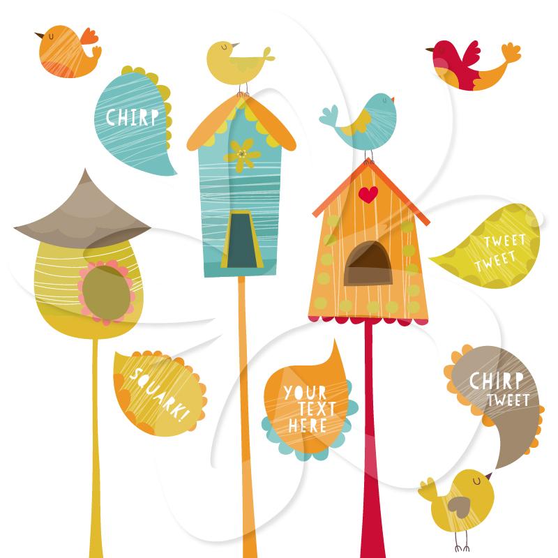 Bird House Clip Art.