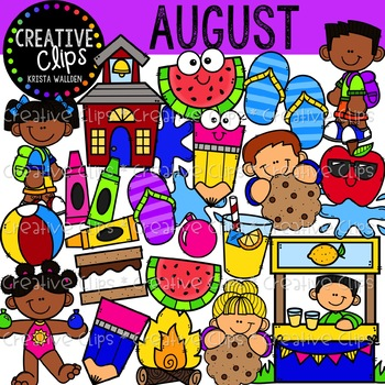 August Clipart {Creative Clips Clipart}.