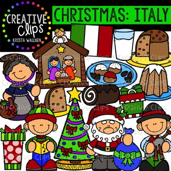 Christmas in Italy Clipart {Creative Clips Clipart}.