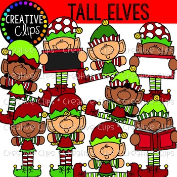 Tall Elves: Christmas Clipart {Creative Clips Clipart}.