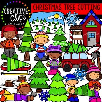Christmas Tree Cutting: Christmas Clipart {Creative Clips.